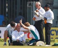 Umpire Reiffel misses rest of Mumbai test following concussion