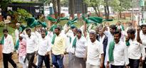 KRRS members stage protest