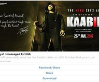 Kaabil actors to engage with fans through FB ChatBot