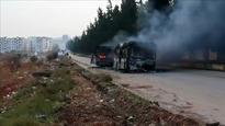 Militants torch buses evacuating wounded and elderly in Syria