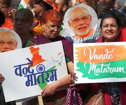 PHOTOS: How PM Modi was greeted in London