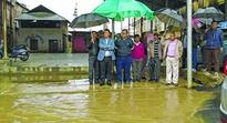 Flood in Langthabal, MU campus inspected