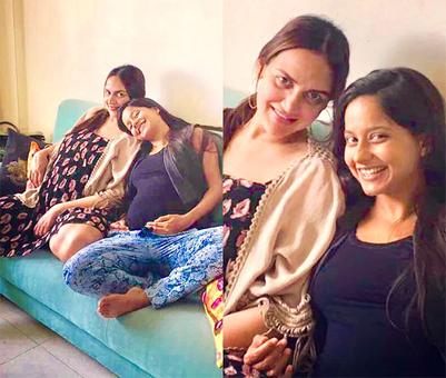PIX: Esha Deol shows off her baby bump
