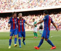 VIDEO Barcelona 6-2 Real Betis Highlights; Lionel Messi, Luis Suarez Lead Barca To Opening La Liga Win