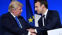 Trump, Macron face differences on Iran, trade, in French visit