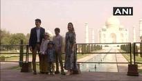 Canadian PM visits Taj Mahal