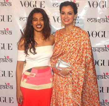 PIX: Radhika Apte, Dia Mirza mingle at a fashion event