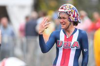 Lance Armstrong awkardly congratulates Kristin Armstrong on her latest gold medal