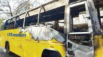 20 Students Escape as College Bus Goes up in Flames