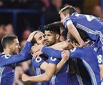 Costa ends goal drought as Chelsea open up 7-point lead
