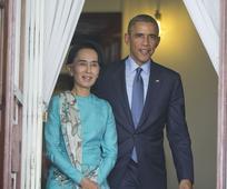 Obama vows to lift Myanmar sanctions during Suu Kyi visit
