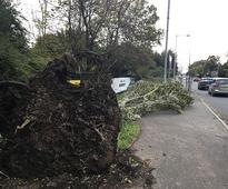 Tropical storm Ophelia batters Ireland: Three dead; more than two lakh homes face power cut