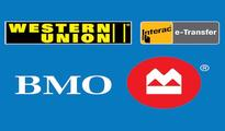 Bank of Montreal Offers Western Union Money Transfer Transactions Online