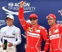 Monaco Grand Prix: Kimi Raikkonen pips Sebastian Vettel to secure pole position; Lewis Hamilton 14th