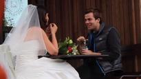 Wedding dress on Tinder dates
