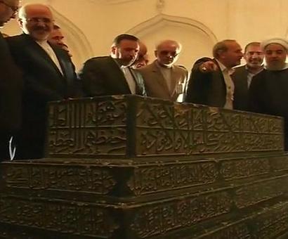 Rouhani visits Qutub Shahi tombs in Hyderabad