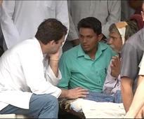 Rahul Gandhi, Praful Patel visit Mota Samadhiala, Rajkot in Gujarat, Rs 7 lakh relief announced