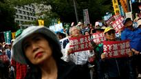 Thousands of anti-Abe protesters rally in Tokyo as election nears