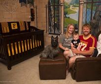 Genius parents from Illinois built the best Harry Potter nursery ever