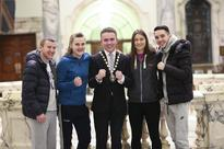 Boxing: Russian, Dutch and Irish boxers welcomed at Belfast City Hall