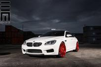 BMW M6 Gran Coupe With Candy Apple Red Wheels