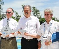 Swimming pool for Rio 2016 modern pentathlon unveiled in Deodoro Olympic Park