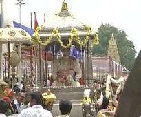 Dussehra celebrations at Mysore Palace