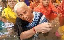 Madhya Pradesh: Medha Patkar holds jal satyagraha as water released for Sardar Sarovar dam submerges many areas