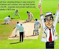 Corporate matches bring in big bucks for Gurgaon umpires