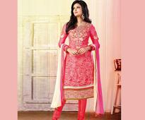 Fuchsia Faux Georgette Kameez with Straight Pant