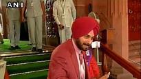 Navjot Singh Sidhu takes Rajya Sabha oath