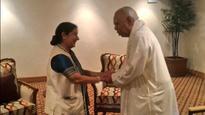 Sushma Swaraj meets Tamil leaders in Sri Lanka