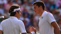 Raonic, Federer in Wimbledon semifinal rematch