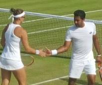 Wimbledon: Aisam reaches mixed doubles quarter-final