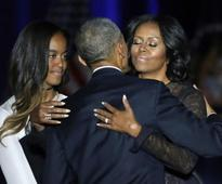 'You've made me proud': Obama tears up during tribute to Michelle, daughters