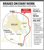 Farmer protest hits work on ring expressway to decongest Delhi