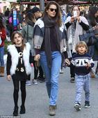Alessandra Ambrosio takes her children to meet Santa after Victoria's Secret Fashion Show