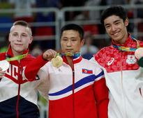 You'd be a sad Olympic gold medallist too if you were from N Korea