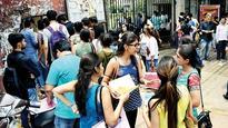 DU aspirants queue up at South Campus