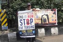 Hyderabad's SHE Team Makes Harasser Stand in Public With 'Stop Eve-teasing' Placard