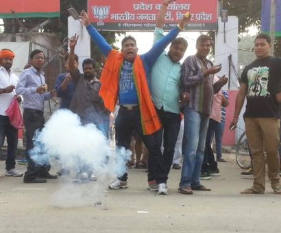 'Lord Ram burned down Ravan's Lanka today'