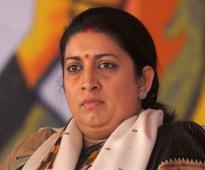 Rahul using students as political fodder: HRD minister Smriti Irani