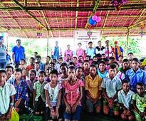 Learning hub for flood-hit children