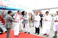 Vice President of India M Venkaiah Naidu arrives in Imphal