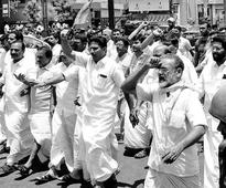 BJP takes out massive protest march in capital