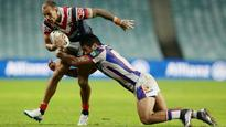 Origin hopeful Mitchell Pearce makes triumphant return as Sydney Roosters rout Newcastle Knights