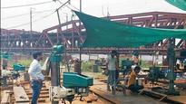 Railways start repair work on 100-year-old bridge