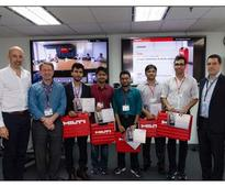 IIIT-B students are global winners of the Hilti mobile hackathon