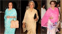 Yesteryear beauties Waheeda Rehman, Helen at Kapoor & Sons screening
