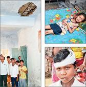 Ceiling crash in Bokaro school